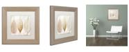 "Trademark Global Color Bakery 'Fallen Gold II' Matted Framed Art - 11"" x 11"""