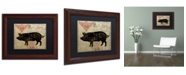 "Trademark Global Color Bakery 'Paris Farms II' Matted Framed Art - 11"" x 14"""