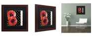 "Trademark Global Color Bakery 'Scarlet Poppies II' Matted Framed Art - 16"" x 16"""