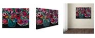 """Trademark Global Carrie Schmitt 'Las Floras' Canvas Art - 35"""" x 47"""""""