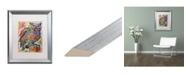 """Trademark Global Dean Russo 'Owl Perch' Matted Framed Art - 16"""" x 20"""""""