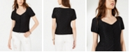 American Rag Juniors' Button-Front Eyelet Top, Created for Macy's