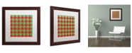 """Trademark Global Color Bakery 'Xmas Houndstooth' Matted Framed Art - 16"""" x 16"""""""