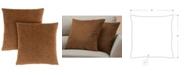 "Monarch Specialties 18"" x 18"" Floral Velvet Pillow, Set Of 2"