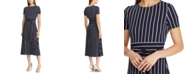 Lauren Ralph Lauren Stripe-Print Belted Jersey Dress