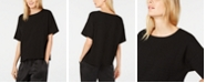 Eileen Fisher Textured Scoop-Neck T-Shirt