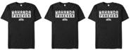 Marvel Men's Black Panther Bold Wakanda Forever Short Sleeve T-Shirt