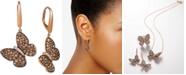 Le Vian Diamond Butterfly Drop Earrings (1-7/8 ct. t.w.) in 14k Rose Gold