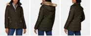 Michael Kors Petite Hooded Faux-Fur-Trim Puffer Coat, Created For Macy's