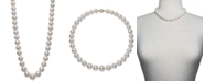 "Belle de Mer Cultured Freshwater Pearl Graduated 17-1/2"" Strand Necklace (11-14mm) in 14k Gold, Created for Macy's"