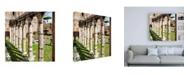 "Trademark Global Philippe Hugonnard Dolce Vita Rome 3 Architecture Columns Canvas Art - 15.5"" x 21"""