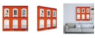 "Trademark Global Philippe Hugonnard Made in Spain 3 Orange Facade of Traditional Spanish Building II Canvas Art - 15.5"" x 21"""