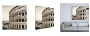 "Trademark Global Philippe Hugonnard Dolce Vita Rome 3 Colosseum II Canvas Art - 15.5"" x 21"""