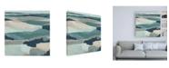 "Trademark Global June Erica Vess Blue Vista I Canvas Art - 15.5"" x 21"""