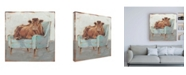 "Trademark Global Ethan Harper Moo-ving in IV Canvas Art - 15.5"" x 21"""