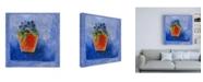 "Trademark Global Pablo Esteban Orange Flower Pot Canvas Art - 15.5"" x 21"""