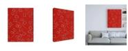 "Trademark Global Pablo Esteban Red Under Flowers Canvas Art - 15.5"" x 21"""