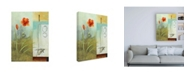 "Trademark Global Pablo Esteban Red Orange Flower Abstract Canvas Art - 15.5"" x 21"""