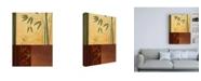"Trademark Global Pablo Esteban Bamboo Scrolling Stencil Canvas Art - 19.5"" x 26"""