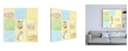 "Trademark Global June Erica Vess Tic tac Mice in Blue Childrens Art Canvas Art - 36.5"" x 48"""