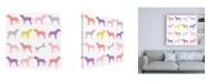 "Trademark Global Chariklia Zarris Animal Sudoku in Pink III Childrens Art Canvas Art - 15.5"" x 21"""