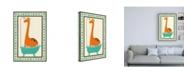 "Trademark Global June Erica Vess Rub a Dub Dino I Childrens Art Canvas Art - 15.5"" x 21"""