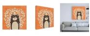 "Trademark Global June Erica Vess Woodland Cutie I Canvas Art - 15.5"" x 21"""