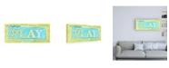 "Trademark Global Megan Meagher Play Phrase Canvas Art - 15.5"" x 21"""