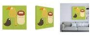"Trademark Global June Erica Vess Feathered Friends I Canvas Art - 15.5"" x 21"""