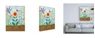 "Trademark Global Megan Meagher Whimsical Flower Garden II Canvas Art - 15.5"" x 21"""