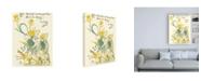 "Trademark Global Walter Crane Shakespeares Garden IV (Daffodil) Canvas Art - 27"" x 33.5"""