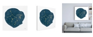 "Trademark Global Moira Hershey Horoscope Virgo Canvas Art - 15.5"" x 21"""