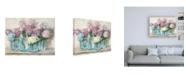 "Trademark Global Carol Rowan Hydrangeas in Glass Jar Pastel Crop Canvas Art - 15.5"" x 21"""