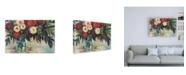 "Trademark Global Jeanette Vertentes Winter Floral Crop Canvas Art - 27"" x 33.5"""