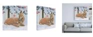 "Trademark Global Emily Adams Christmas Critters Bright VIII Canvas Art - 15.5"" x 21"""
