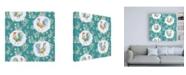 "Trademark Global Daphne Brissonnet Morning Bloom Pattern IB Canvas Art - 19.5"" x 26"""
