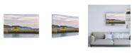 "Trademark Global Chuck Burdic Quiet Morning Pier Canvas Art - 19.5"" x 26"""