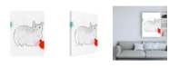 "Trademark Global Niya Christin Kitty in Repose Canvas Art - 27"" x 33.5"""
