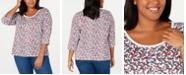 Tommy Hilfiger Plus Size Printed Cotton T-Shirt