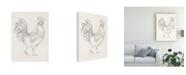 "Trademark Global Ethan Harper Rooster Sketch I Canvas Art - 20"" x 25"""