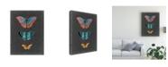 """Trademark Global Naomi Mccavitt Butterflies on Slate III Canvas Art - 15"""" x 20"""""""