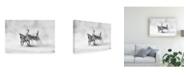 "Trademark Global Juan Luis Duran Three Zebras Canvas Art - 15"" x 20"""