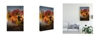 "Trademark Global Christopher R Veizaga Fall in Central Park Canvas Art - 15"" x 20"""