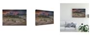 "Trademark Global Peter Svoboda Mqep Burning Mountains Over the Frozen Valley Canvas Art - 15"" x 20"""