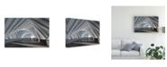 "Trademark Global Mountain Cloud Abstract Corridor Canvas Art - 37"" x 49"""