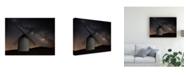 "Trademark Global Martin Zalba Windmill Night Canvas Art - 37"" x 49"""