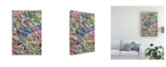 "Trademark Global Mark Lovejoy Abstract Splatters Lovejoy 31 Canvas Art - 37"" x 49"""