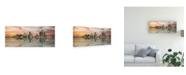 "Trademark Global Monte Nagler Detroit Sunset Panorama Detroit Michigan Color Pan Canvas Art - 20"" x 25"""
