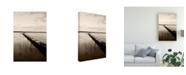 "Trademark Global Monte Nagler Pier Under Wave Break Sepia Canvas Art - 20"" x 25"""
