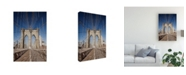 "Trademark Global Monte Nagler Brooklyn Bridge New York City New York Color Canvas Art - 20"" x 25"""